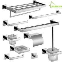 modern bathroom accessories sets. AUSWIND Stainless Steel Square Base Bathroom Hardware Set Wall Mounted Accessories Modern(China Modern Sets A