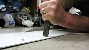 1 8 aluminum sheet bending aluminum youtube
