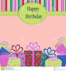 Template Birthday Greeting Card Stock Illustration