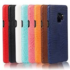 for samsung s9 plus leather case pu leather hard pc back cover phone cases for samsung galaxy s9 s9plus
