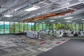 natural light office. For The Mohawk Group Design Center, We Wanted To Create An Open Office Environment That Would Allow Ample Amounts Of Natural Light And Views