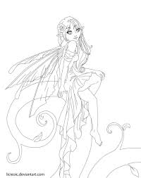 Adults Fairy Coloring Pages Free Download