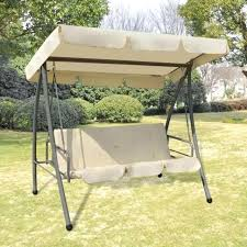 outdoor swing canopy replacement walmart patio hammock seat bed sand white garden s