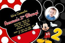 Mickey Mouse Clubhouse 2nd Birthday Invitations Free Printable Mickey Mouse 2nd Birthday Invitations In 2019