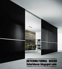 modern sliding fibregl door wide design for office room black door