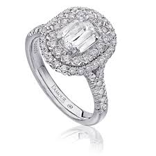 Christopher Designs Halo Engagement Ring Christopher Designs L Amour Crisscut Diamond Engagement Ring