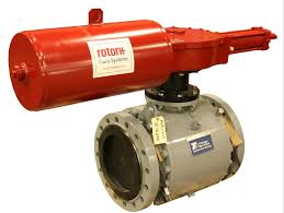 valve automation by automated valve control rotork hydraulic on t3 trunion