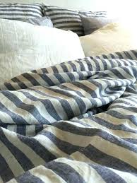 striped linen duvet cover bedding blue and by grey white b