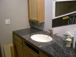 bathroom ideas large size black galaxy granite countertop mounted washbasin vanity gray wall paint mirror