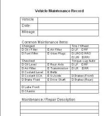 Vehicle Maintenance Schedule - Website of marypterivo!