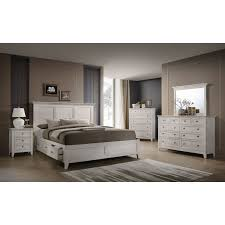 casual classic rustic white 4 piece king bedroom set st mortiz rc willey furniture