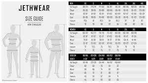 Size Guide Jethwear Rooted In The Free Thinking Values Of