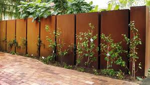 solid metal fence. Natty Brown Apart Metal Fence Panels Design Adjustable For Backyard Area Solid N