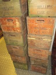 original 1950 s bullards vintage wooden beer crates
