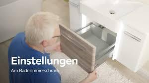 Scharniere Und Schubladen Einstellen Badezimmer Xxxlutz Youtube