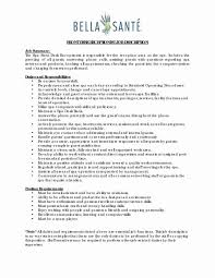 Receptionist Job Duties Resume For Administration Office