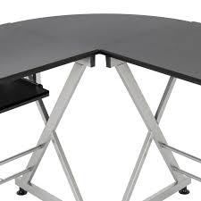 best choice s wood l shape corner computer desk pc laptop table workstation home office black com