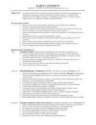 Program Coordinator Resume Objective Sidemcicek Com