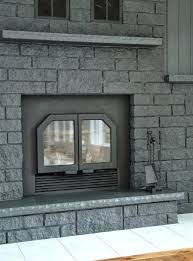 painted brick fireplace grey