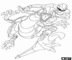Kleurplaat Power Ranger En Robot Dinosaurus Kleurplaten