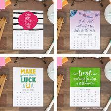 printable 2018 desk calendar 12 month inspirational and motivational e designs instant