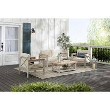 wood patio conversation sets