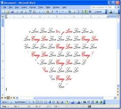 Microsoft Word Hearts How To Print Wedding Vows In The Shape Of A Heart