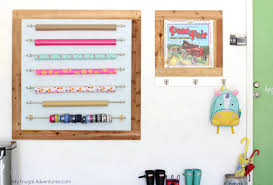 organized wrapping paper station tutorial
