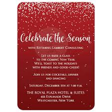Holiday Party Invitation 2 Celebrate The Season Red Silver Gray
