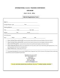 On The Job Training Form Classy Free Car Show Registration Form Template Vendor Job Fair Sample