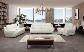 italian white leather sofa set aek 18w