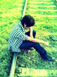sad boy alone in love sitting sad sad