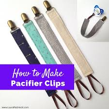 how to make pacifier clips pacifier clip tutorial easy to sew pacifier clips