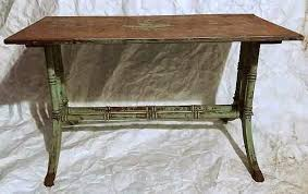hollywood regency faux bamboo shabby painted table craigslist garage s oklahoma city