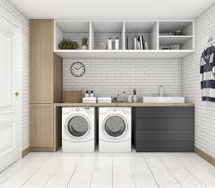 minimalist durable laundry room