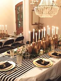 black gold and white party decor