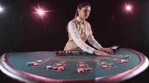 Videoblocks Casino Dealer Handling Playing Cards At A Poker