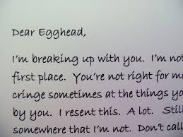 Break Up Letters Funny El Parga