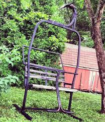 ski bench vintage ski lift chair park bench located in new haven ct