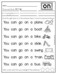 Sight words worksheets for preschool and kindergarten. Sight Word Fluency Sentences Sight Words Kindergarten Sight Word Fluency Sight Word Sentences