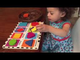 Teaching a 1 year old Shapes! Learning Shapes Preschool - YouTube