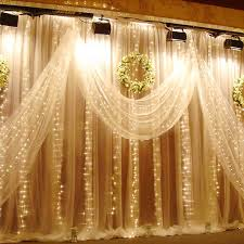 Diy Curtains With Lights Torchstar 9 8ft X 9 8ft Led Curtain Lights Starry Christmas