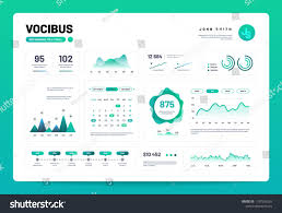 Web Design Charts Graphs Infographic Dashboard Admin Panel Interface With Green