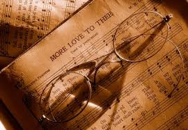 old specs and hymn books by az kate