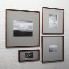 modern wood picture frames. Gallery Walnut Picture Frames With Grey Mats Modern Wood E