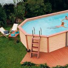 home swimming pools above ground. Interesting Swimming Above Ground Pool With Wood Surround On Home Swimming Pools O