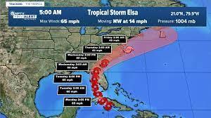 Tropical Storm Elsa strengthening some ...
