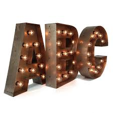 lighting letters. zoom lighting letters