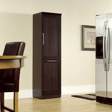 Wooden Storage Cabinets With Doors Sauder Homeplus Swing Out Storage Cabinet Pantry Cabinets At