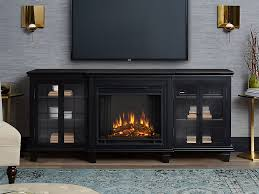 marlowe electric fireplace entertainment center in black 2770e bk